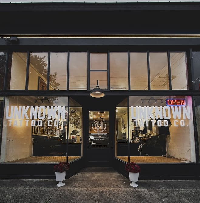 Unknown Tattoo Co. located in Snohomish Washington 98290