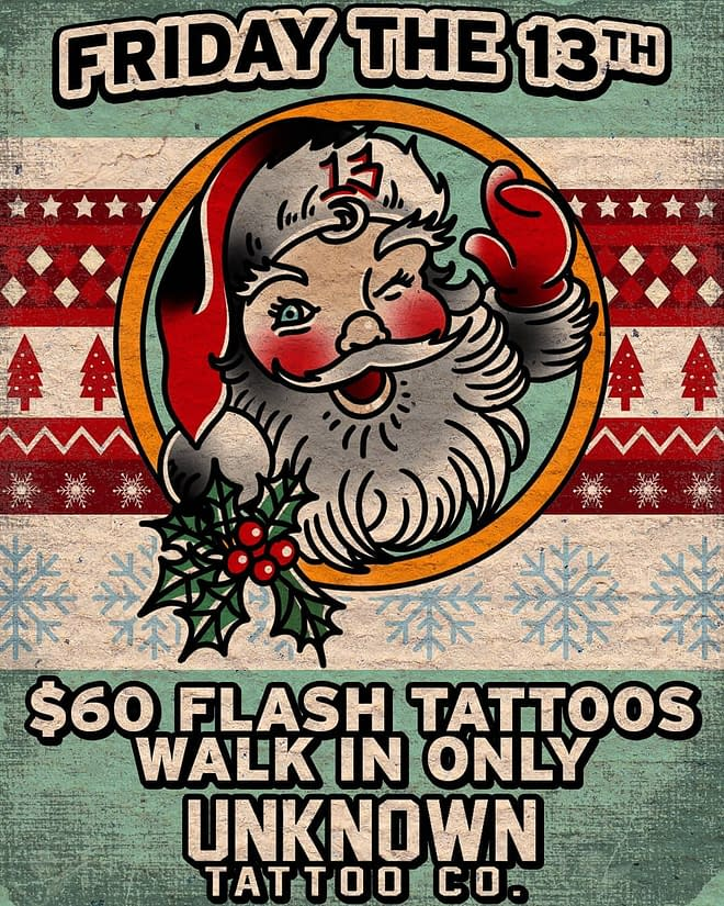 $60 Friday the 13th Tattoos at Unknown Tattoo Co in Everett, Washington