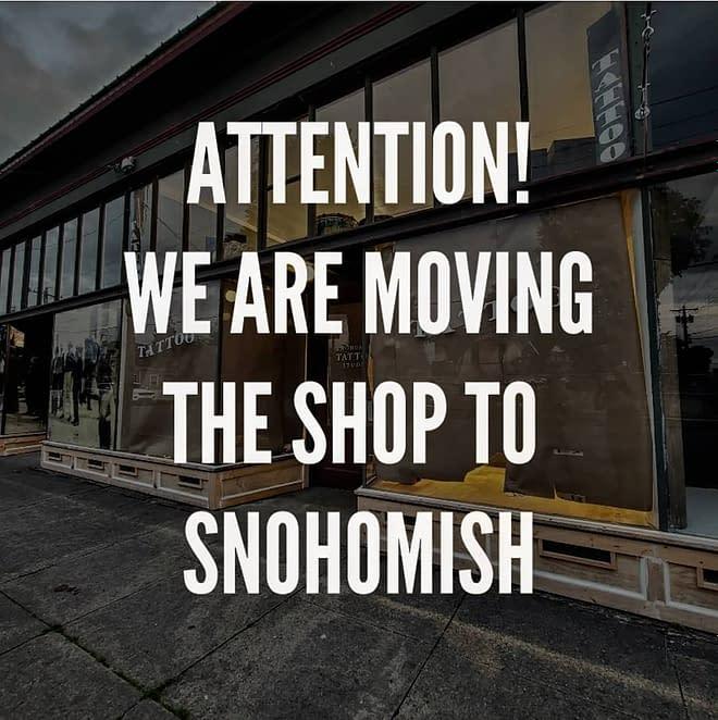 Wea re moving the shop to Snohomish Washington!