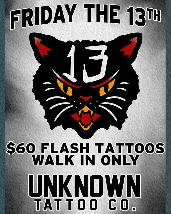 Friday the 13th tatto- unknown tattoo - everett washington